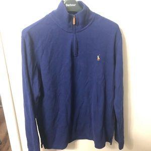Navy Polo Ralph Lauren Quarter Zip Sweater Size M